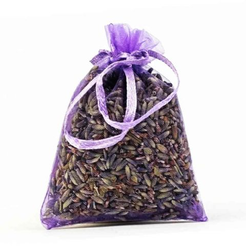 Natural Dried Lavender in Tied Organza Bag